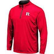 Colosseum Men's Rutgers Scarlet Knights Scarlet Embossed Quarter-Zip Performance Shirt