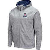 Colosseum Men's Arizona Wildcats Grey Full-Zip Hoodie