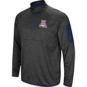 Colosseum Men's Arizona Wildcats Grey Amnesia Quarter-Zip Shirt