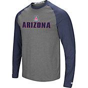 Colosseum Men's Arizona Wildcats Navy/Gery Social Skills Long Sleeve Raglan T-Shirt
