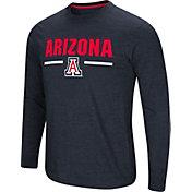 Colosseum Men's Arizona Wildcats Navy Touchdown Long Sleeve T-Shirt