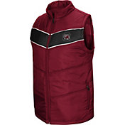 Colosseum Men's South Carolina Gamecocks Garnet Red Beaulieu Full-Zip Vest