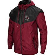 Colosseum Men's South Carolina Gamecocks Garnet/Black Galivanting Full Zip Jacket