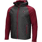 Colosseum Men's South Carolina Gamecocks Grey/Garnet Baseplate Full-Zip Jacket