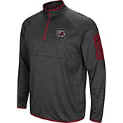 Colosseum Men's South Carolina Gamecocks Grey Amnesia Quarter-Zip Shirt