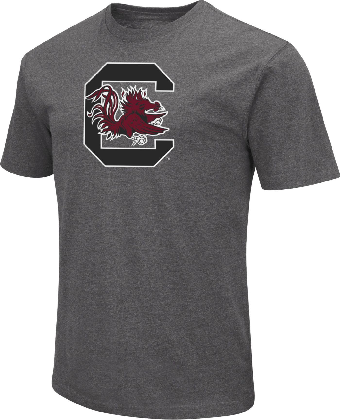 Colosseum Men's South Carolina Gamecocks Grey Dual Blend T-Shirt