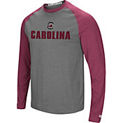 Colosseum Men's South Carolina Gamecocks Grey/Garnet Social Skills Long Sleeve Raglan T-Shirt