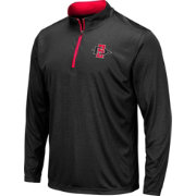 Colosseum Men's San Diego State Aztecs Embossed Quarter-Zip Performance Black Shirt