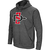 Colosseum Men's San Diego State Aztecs Grey Fleece Pullover Hoodie