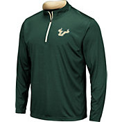 Colosseum Men's South Florida Bulls Green Embossed Quarter-Zip Performance Shirt
