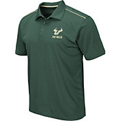 Colosseum Men's South Florida Bulls Green Eagle Polo