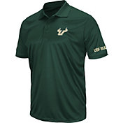 Colosseum Men's South Florida Bulls Green Stance Polo