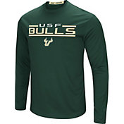 Colosseum Men's South Florida Bulls Green Long Sleeve Performance T-Shirt