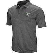 Colosseum Men's South Florida Bulls Grey Cut Shot Polo