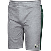 Colosseum Men's South Florida Bulls Grey Take A Knee Fleece Shorts