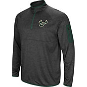 Colosseum Men's South Florida Bulls Grey Amnesia Quarter-Zip Shirt