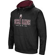 Colosseum Men's Southern Illinois  Salukis Fleece Pullover Black Hoodie