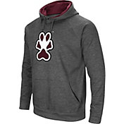 Colosseum Men's Southern Illinois  Salukis Grey Fleece Pullover Hoodie