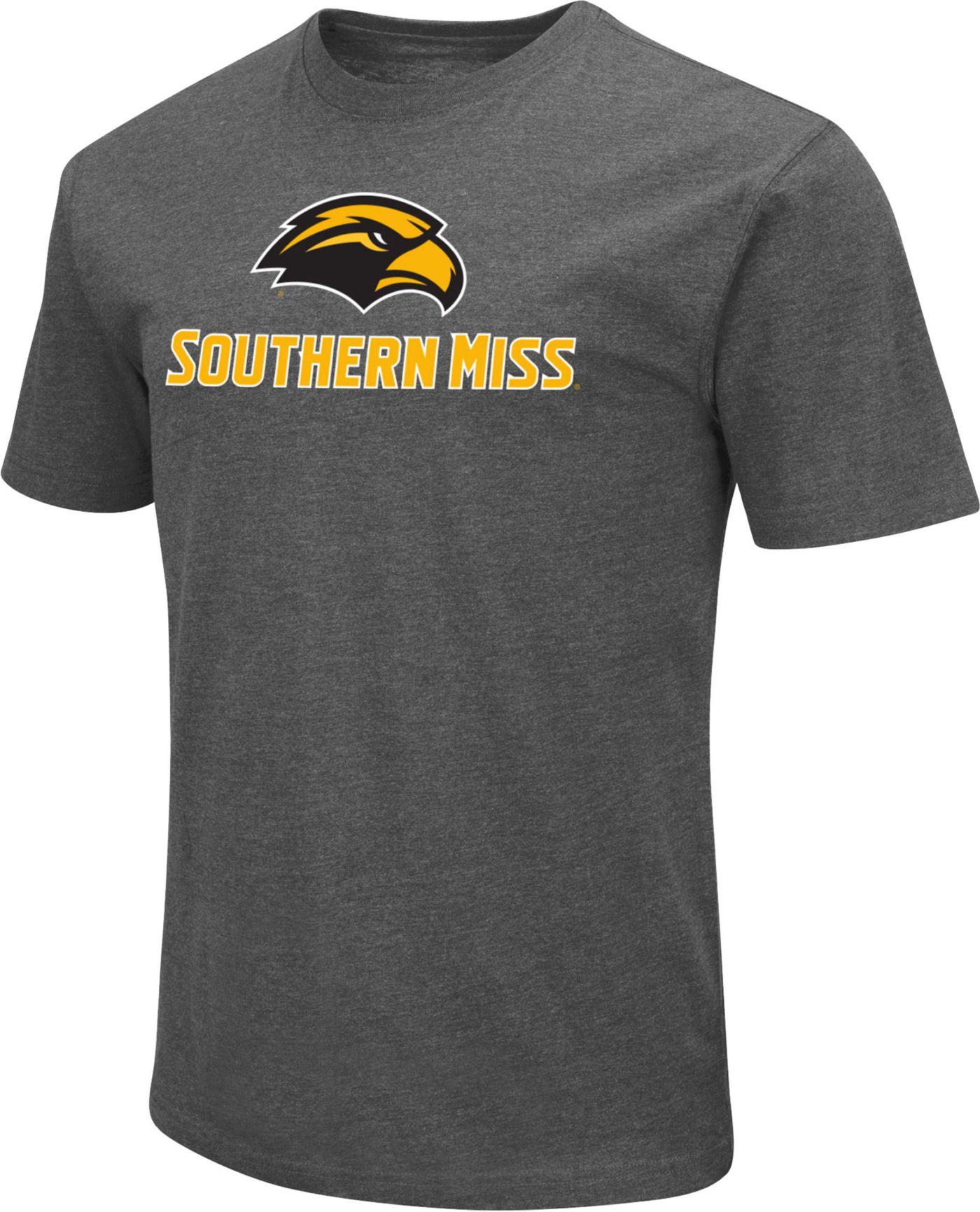 Colosseum Men's Southern Methodist Mustangs Grey Dual Blend T-Shirt