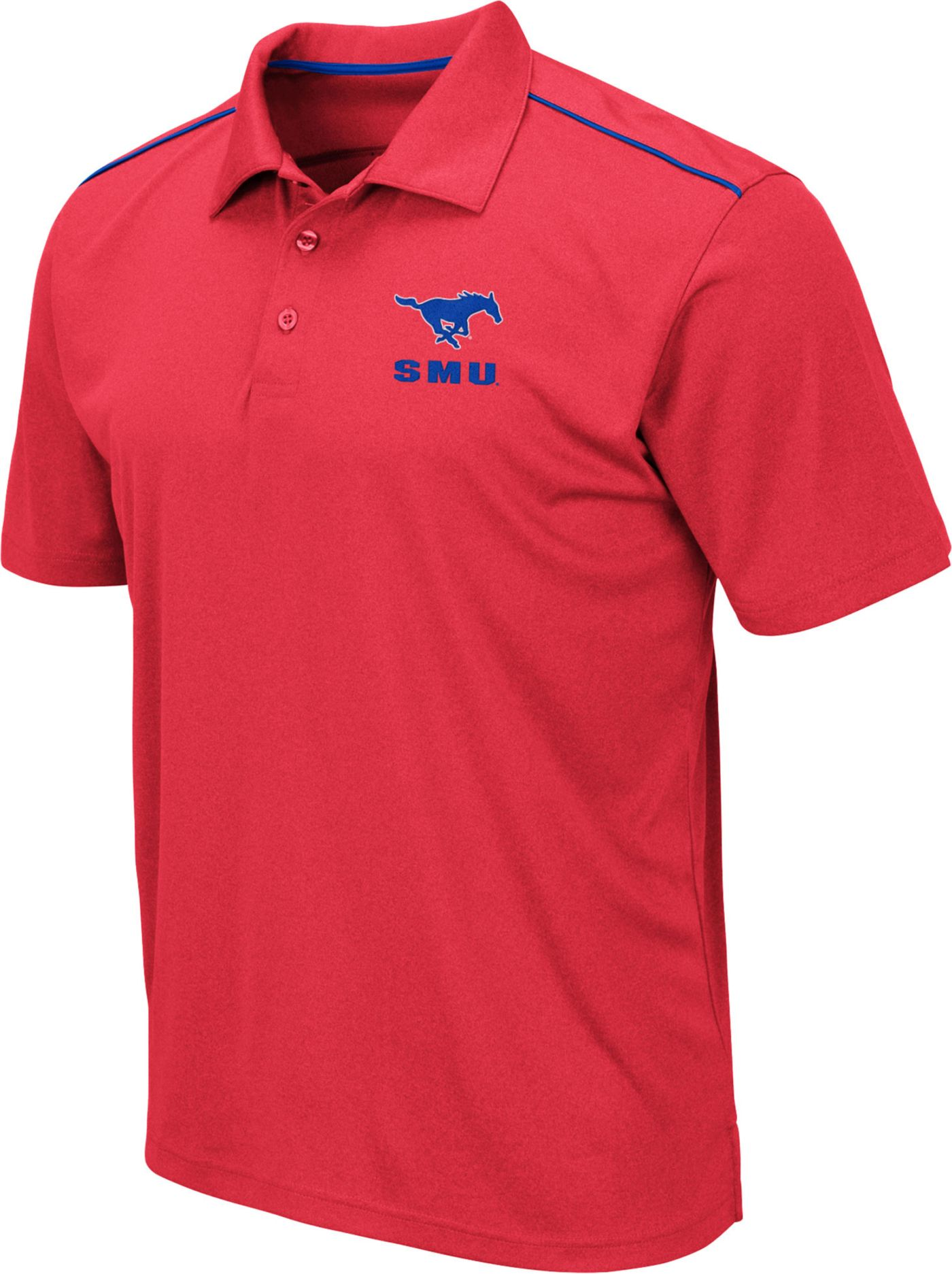 Colosseum Men's Southern Methodist Mustangs Red Eagle Polo