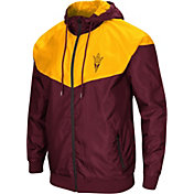 Colosseum Men's Arizona State Sun Devils Maroon/Gold Galivanting Full Zip Jacket