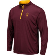 Colosseum Men's Arizona State Sun Devils Maroon Embossed Quarter-Zip Performance Shirt