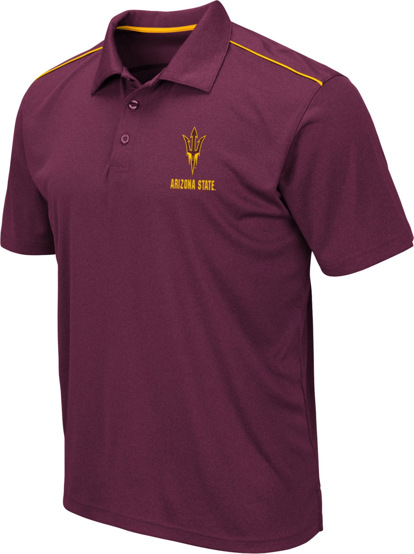 Colosseum Men's Arizona State Sun Devils Maroon Eagle Polo