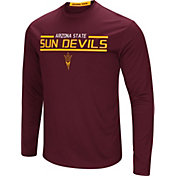 Colosseum Men's Arizona State Sun Devils Maroon Long Sleeve Performance T-Shirt
