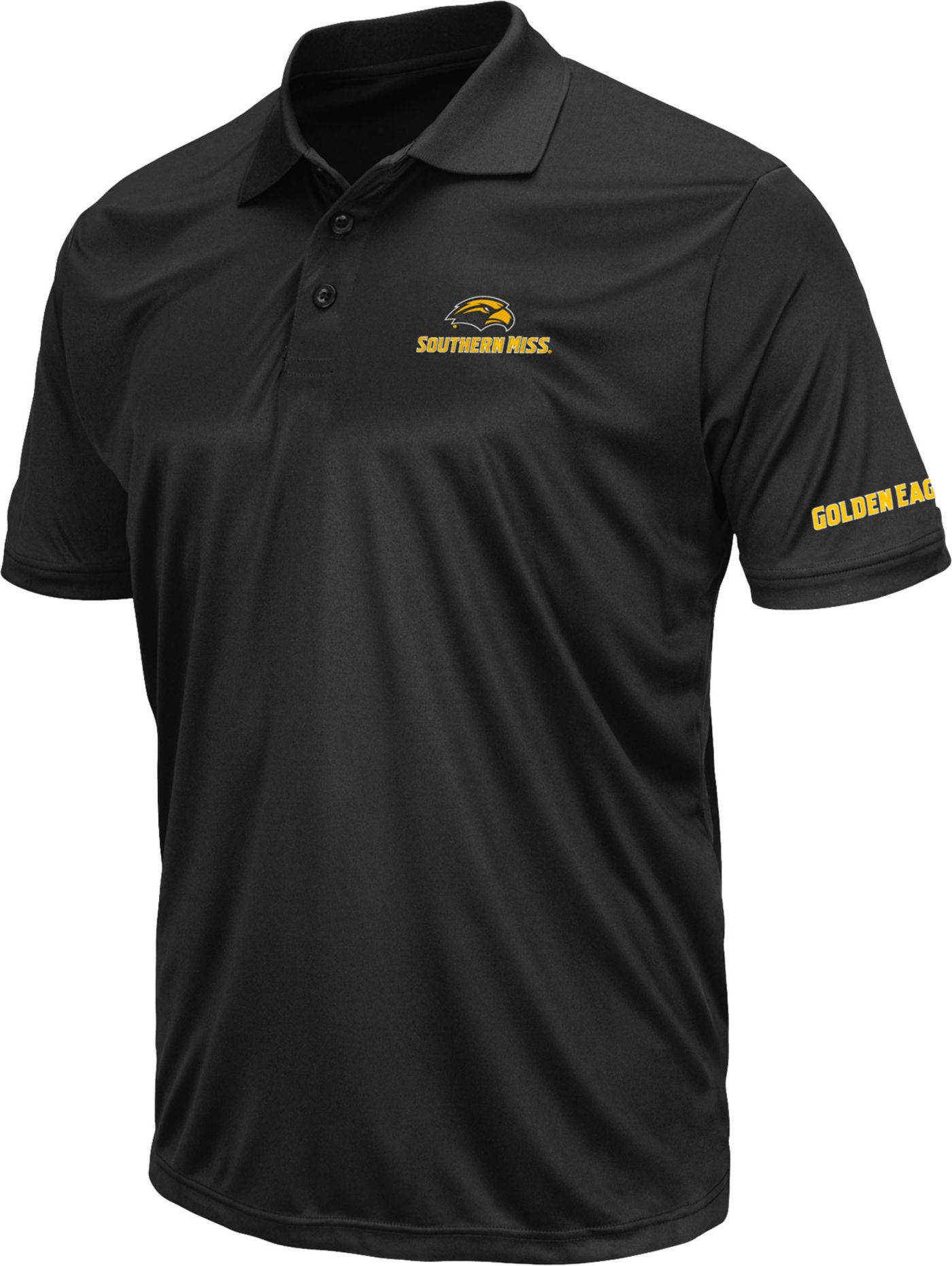Colosseum Men's Southern Miss Golden Eagles Stance Black Polo
