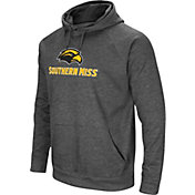 Colosseum Men's Southern Miss Golden Eagles Grey Fleece Pullover Hoodie