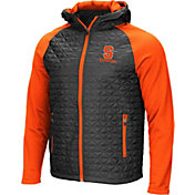 Colosseum Men's Syracuse Orange Grey/Orange Baseplate Full-Zip Jacket