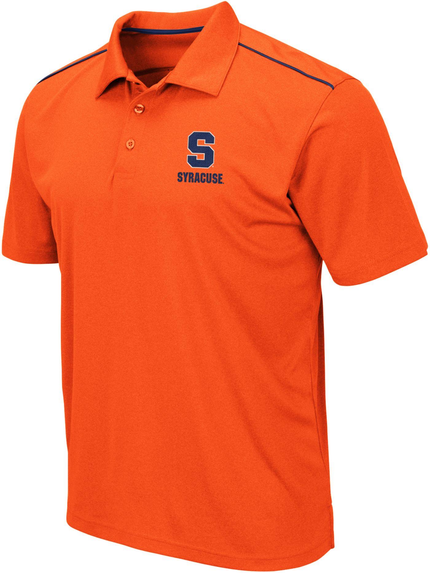 Colosseum Men's Syracuse Orange Blue Eagle Polo