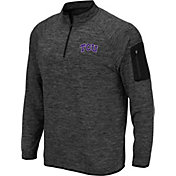 Colosseum Men's TCU Horned Frogs Grey Quarter-Zip Shirt