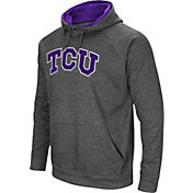 Colosseum Men's TCU Horned Frogs Grey Fleece Pullover Hoodie