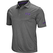 Colosseum Men's TCU Horned Frogs Grey Cut Shot Polo