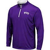 Colosseum Men's TCU Horned Frogs Purple Embossed Quarter-Zip Performance Shirt