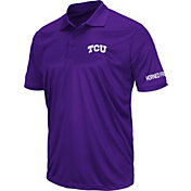 Colosseum Men's TCU Horned Frogs Purple Stance Polo