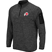 Colosseum Men's Utah Utes Grey Quarter-Zip Shirt