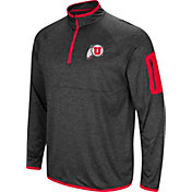 Colosseum Men's Utah Utes Grey Amnesia Quarter-Zip Shirt