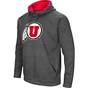 Colosseum Men's Utah Utes Grey Fleece Pullover Hoodie