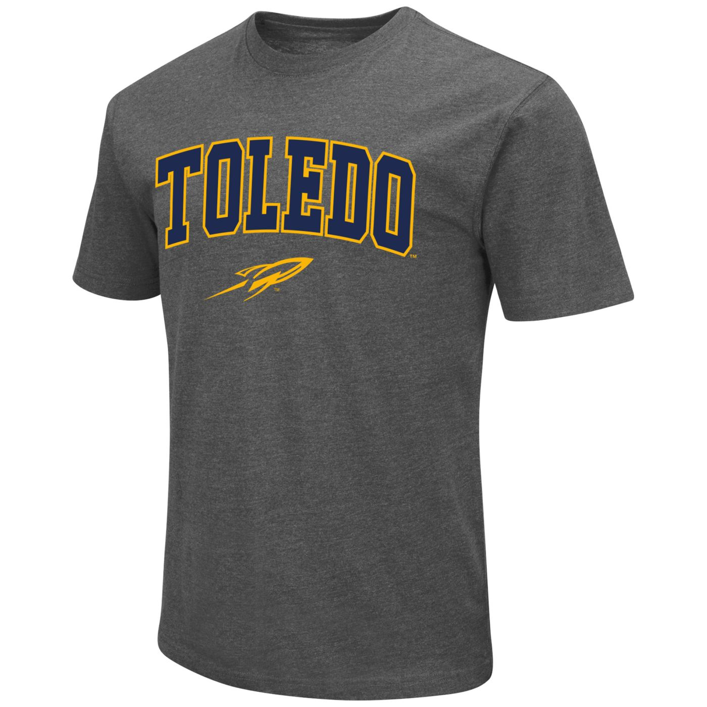 Colosseum Men's Toledo Rockets Grey Dual Blend T-Shirt