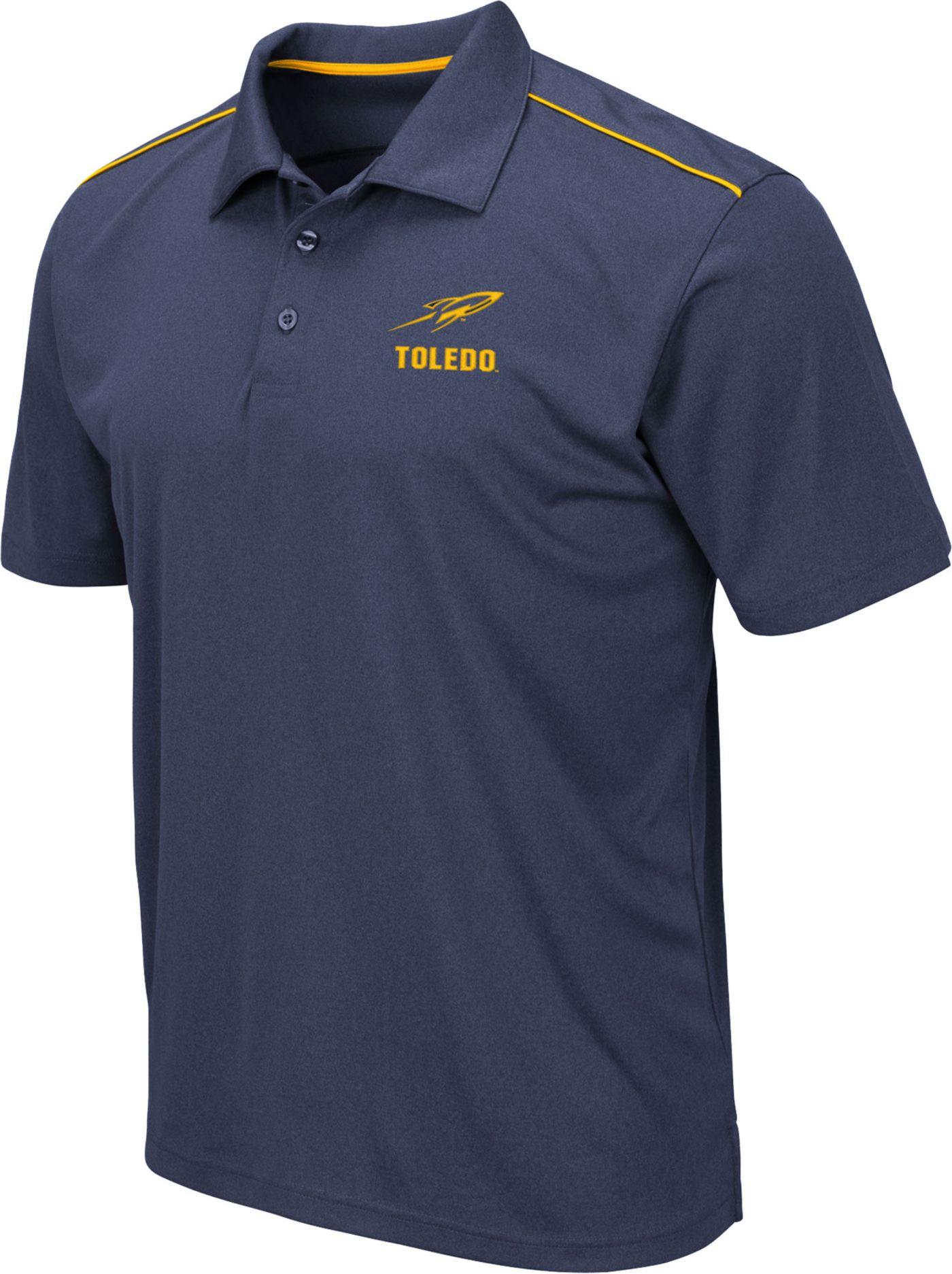 Colosseum Men's Toledo Rockets Midnight Blue Eagle Polo