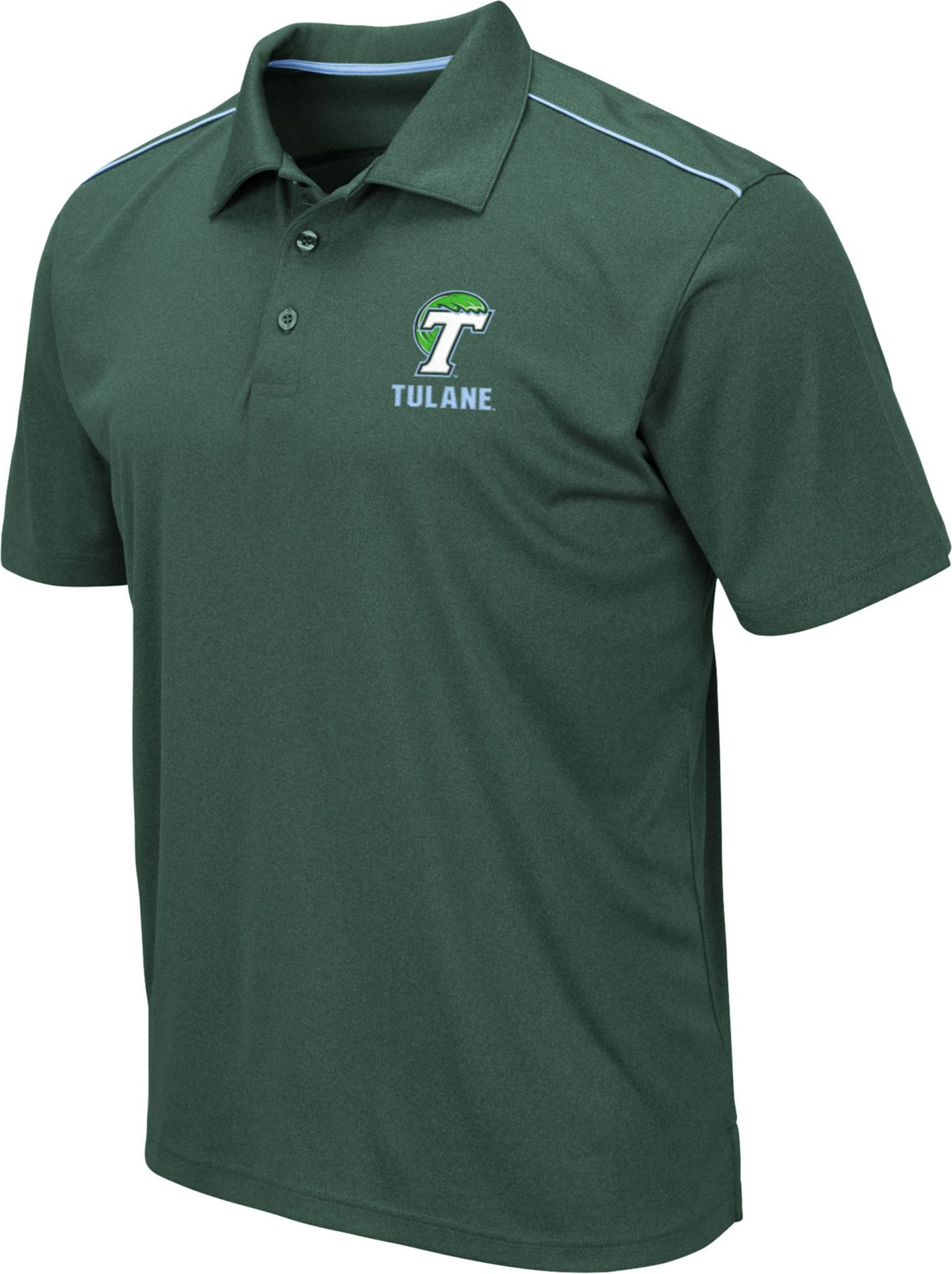 Colosseum Men's Tulane Green Wave Olive Eagle Polo