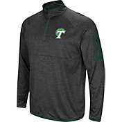 Colosseum Men's Tulane Green Wave Grey Amnesia Quarter-Zip Shirt