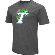 Colosseum Men's Tulane Green Wave Grey Dual Blend T-Shirt