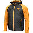 Colosseum Men's Tennessee Volunteers Grey/Tennesee Orane Baseplate Full-Zip Jacket