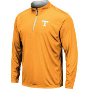 Colosseum Men's Tennessee Volunteers Tennesee Orange Embossed Quarter-Zip Performance Shirt