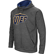 Colosseum Men's UTEP Miners Grey Fleece Pullover Hoodie