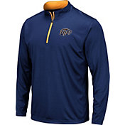 Colosseum Men's UTEP Miners Navy Embossed Quarter-Zip Performance Shirt
