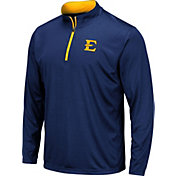 Colosseum Men's East Tennessee State Buccaneers Navy Embossed Quarter-Zip Performance Shirt